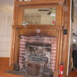 fireplace, downstairs living room