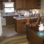 kitchen-- downstairs, north west corner