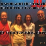"2001 Girls with Dr. John Hawkins (now deceased) at ""Joseph and his Amazing  Technicolor Coat"""