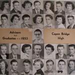 Capon Bridge High Graduates 1953