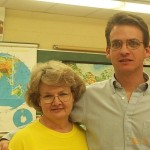 Brian Kidwell (in Bailes's 1st class at JJCornwell) and his mom