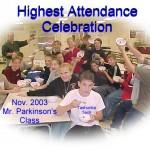 Parkinson Attendance Nov. 2003