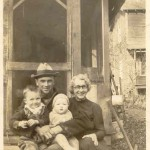 Charles Harmison and sons, Phil and Lowell and Aunt Minnie, 1933 from Phil