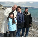 Our host family in Ceriali (near Genova-- on the Ligurian Sea)