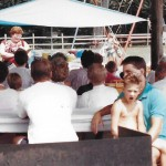 1991 July Sun. School Picnic at Cale's Ford/Wolford's Ruritan Park w/ pastor Deb McKown, Andrew and Glen Davis, Susan Duff, Mike and Cathy Springmann, Mildred  Whitacre