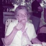 c. 1985 Edna Shobe w/  Jim Speelman at Bailes' Sun. School picnic
