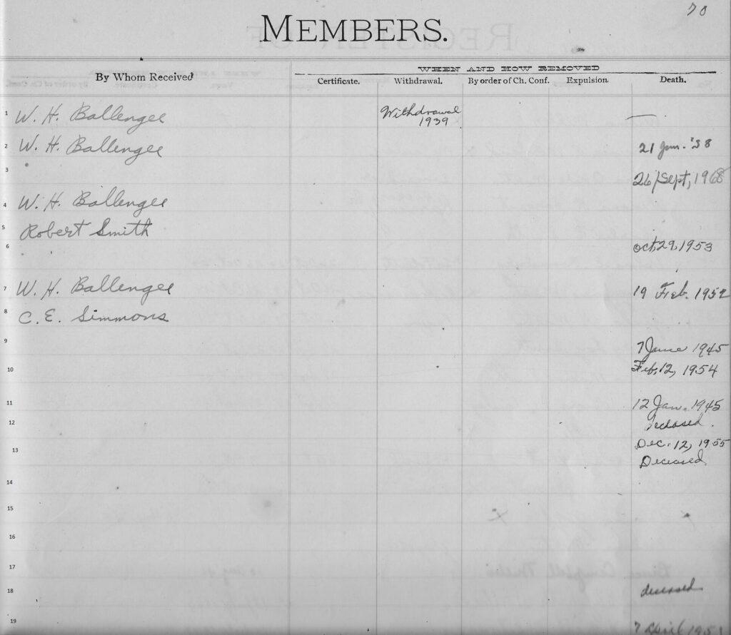 p. 70 top Register N. River Mills