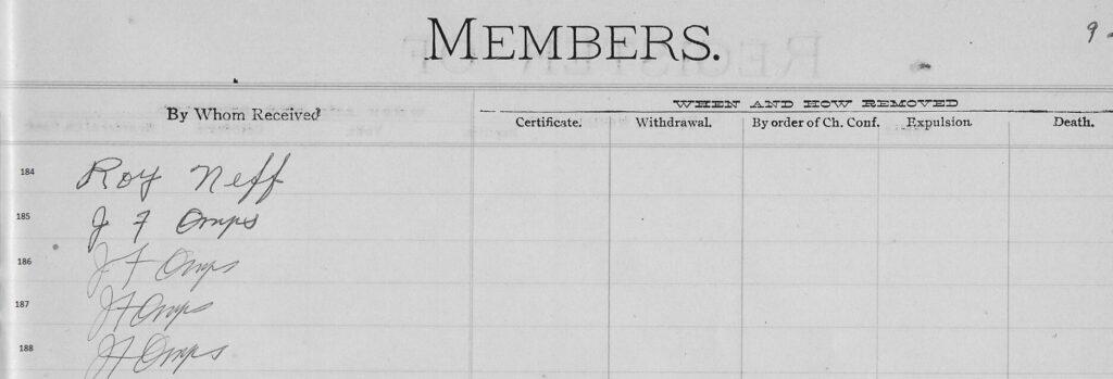p. 92 Register Capon Bridge Cont